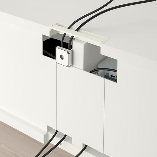 BESTÅ mueble TV + puertas vidrio