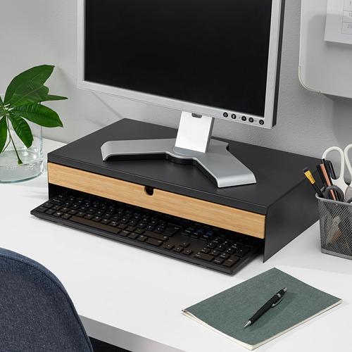 ELLOVEN base monitor con cajón, 47x26x10cm