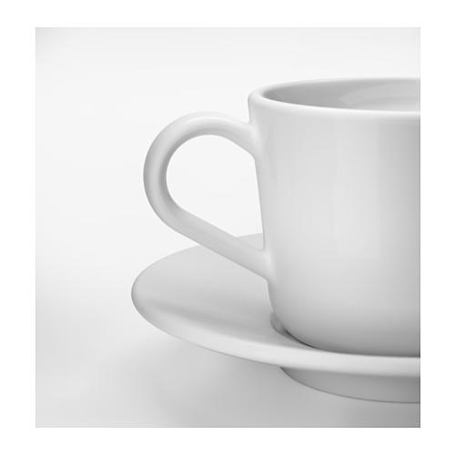 IKEA 365+ Taza y plato para café, taza 13cl y diámetro plato 14cm