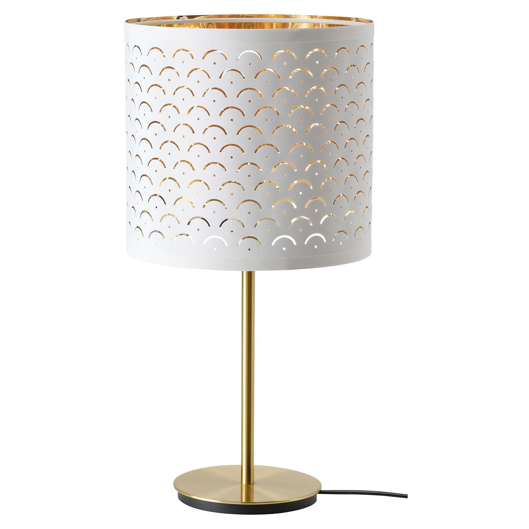 NYMÖ Pantalla para lámpara, blanco, color bronce, 24 cm IKEA