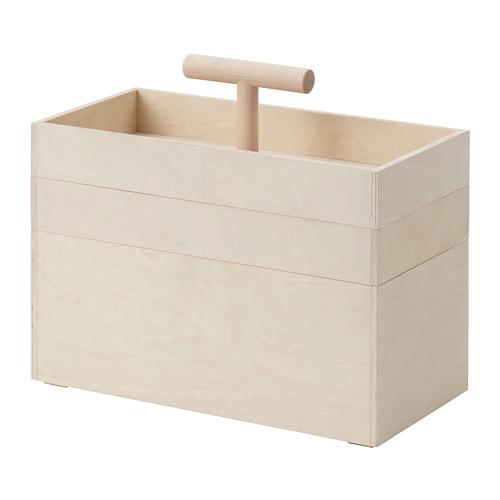 RÅVAROR caja con 3 compartimentos, 18x31cm