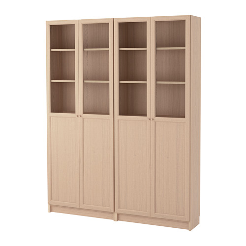BILLY/OXBERG combinación librerías con puertas