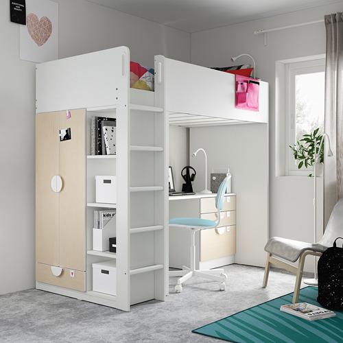 SMÅSTAD cama alta para colchón 90x200cm