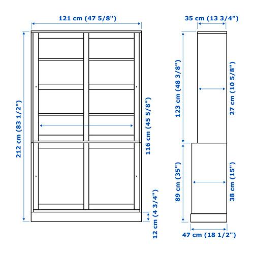 HAVSTA combi armario puert corred vidrio