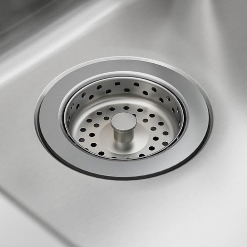 LÅNGUDDEN fregadero encastrado 1 seno, incluye filtro/sifón