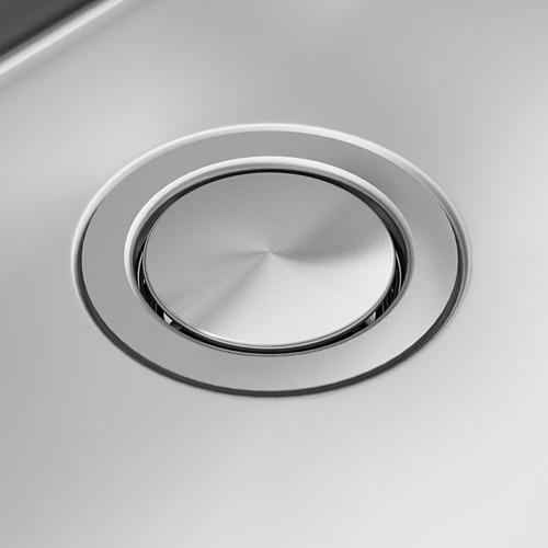 NORRSJÖN Fregadero encastrado 1 seno, incluye filtro/sifón 1 seno y 1 tapón