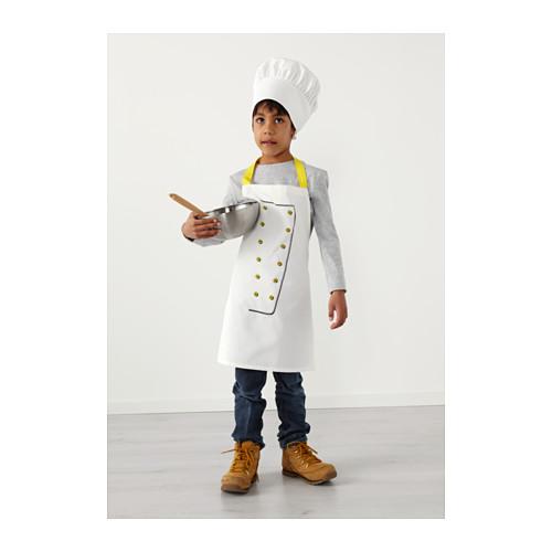 TOPPKLOCKA delantal y gorro de chef para niño