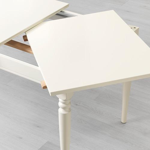 INGATORP mesa extensible, mínimo extensión 155cm  y máximo extensión 215cm