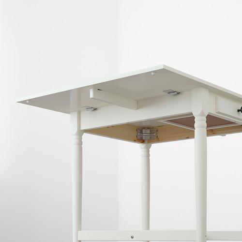 INGATORP mesa de hojas abatibles, mínimo extensión 65cm y máxima extensión 123cm