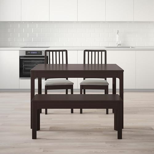 EKEDALEN/EKEDALEN mesa extensible con 2 sillas y 1 banco, máximo extensión 180cm
