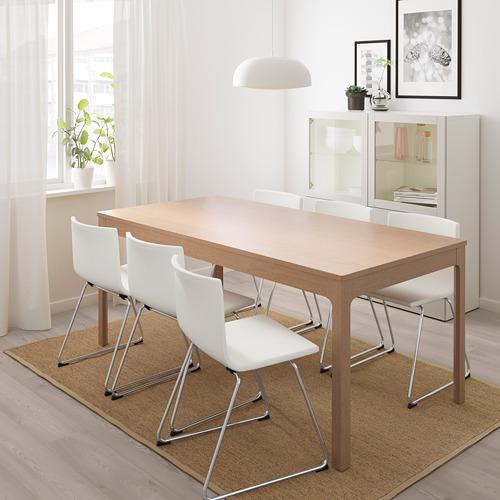 BERNHARD/EKEDALEN mesa extensible con 6 sillas, máximo extensión 240cm