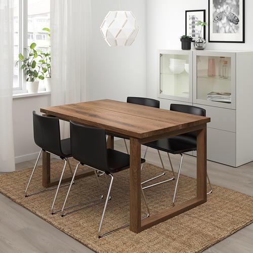 BERNHARD/MÖRBYLÅNGA mesa con 4 sillas, longitud de la mesa 140cm