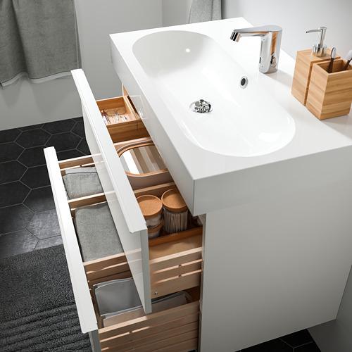 GODMORGON/BRÅVIKEN armario lavabo 2 cajones