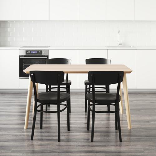 IDOLF/LISABO mesa con 4 sillas, longitud de la mesa 140cm