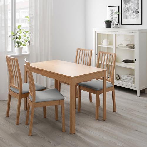 EKEDALEN mesa extensible, mínimo extensión 80cm  y máximo extensión 120cm