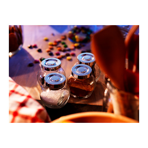 RAJTAN tarro para especias, 4 unidades, 15 cl