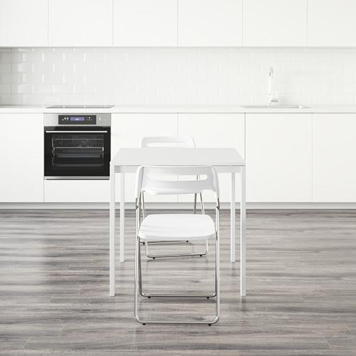 NISSE/MELLTORP mesa con 2 sillas plegables, longitud de la mesa 75cm