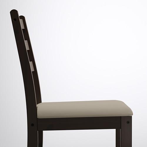 LERHAMN/GAMLARED mesa y dos sillas