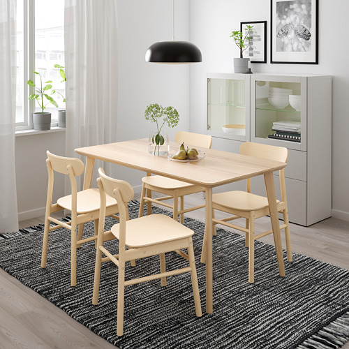 RÖNNINGE/LISABO mesa con 4 sillas, longitud de la mesa 140cm