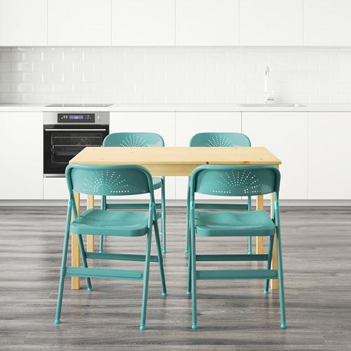 FRODE/INGO mesa con 4 sillas, longitud de la mesa 120cm