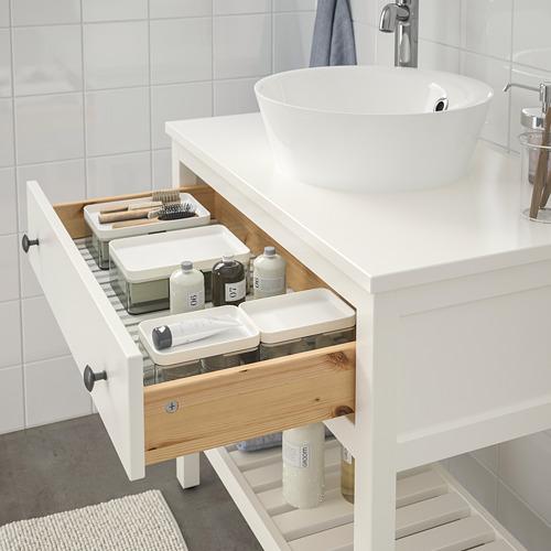 KATTEVIK/HEMNES mueble de baño para lavabo abierto, juego de 3