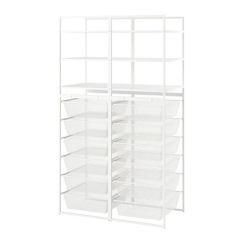 JONAXEL estructura+ cesta rejilla estrecha+estantería