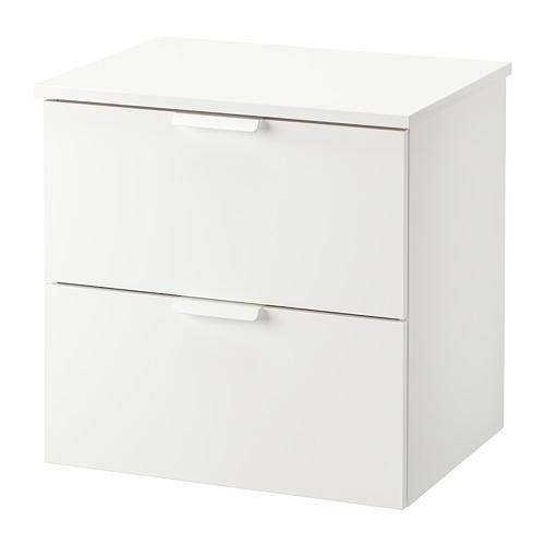 TOLKEN/GODMORGON armario lavabo 2 cajones