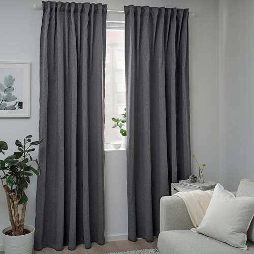 BLÅHUVA cortina, 1 par, 145x300cm