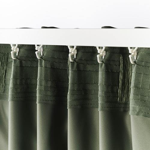 BLÅHUVA cortinas, 1 par