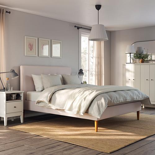 IDANÄS Cama 160, estructura cama tapizada con somier