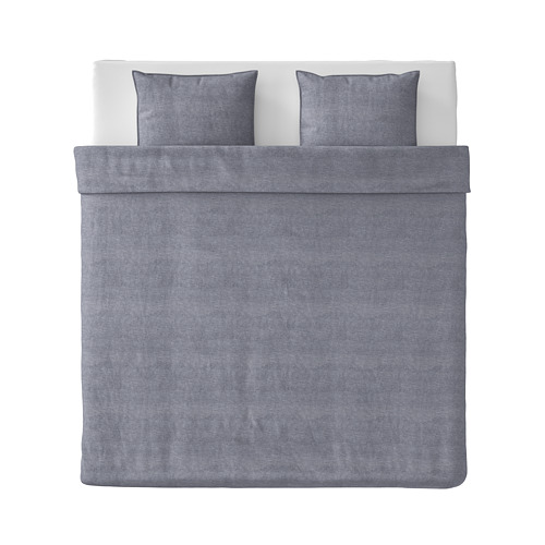 KOPPARBLAD funda nórdica y 2 fundas almohada, 240x220cm y 50x60cm, 118 hilos