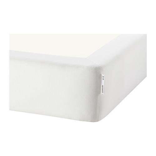 ESPEVÄR somier láminas con funda blanca, 160cm
