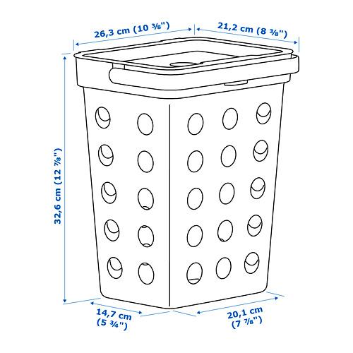 HÅLLBAR cubo tapa basura orgánica