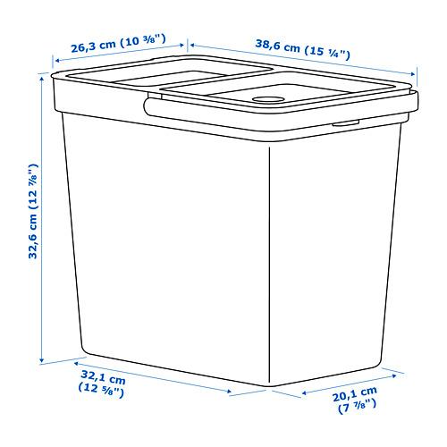 HÅLLBAR cubo con tapa