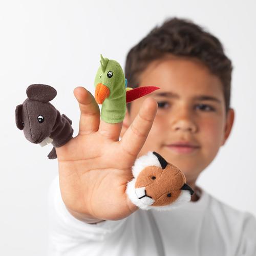TITTA DJUR marioneta para dedo, juego de 10