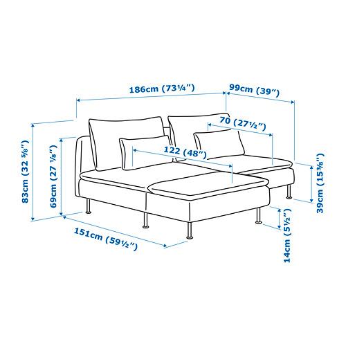 SÖDERHAMN sofá 2 plazas