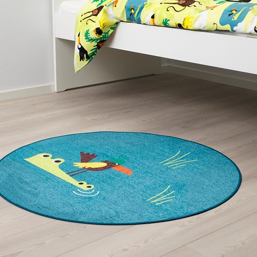 DJUNGELSKOG alfombra de tejido liso