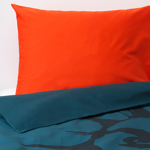 URSKOG funda nórdica y funda  almohada, 152 hilos, 80 y 90cm