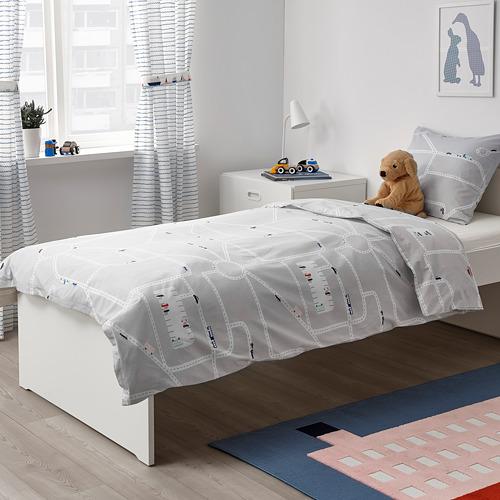 UPPTÅG funda nórdica y funda almohada, 152 hilos, 80 y 90cm