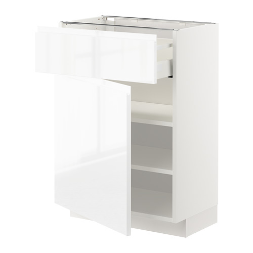 METOD/MAXIMERA armario bajo con 1 cajón 2 estantes y 1 puerta