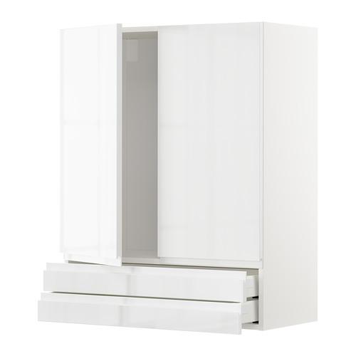METOD/MAXIMERA armario pared con 2 puertas y 2 cajones
