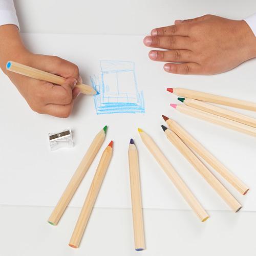 MÅLA lápiz de colores, juego de 10