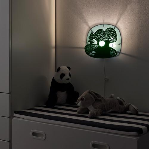 DUGGREGN lámpara de pared, incluye bombilla
