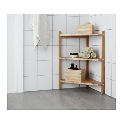 RÅGRUND estantería esquina para baño