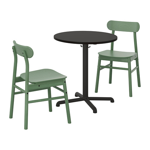 RÖNNINGE/STENSELE mesa y dos sillas