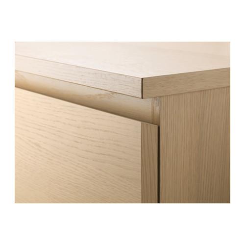 MALM cómoda vertical de 3 cajones, 80x48x78cm