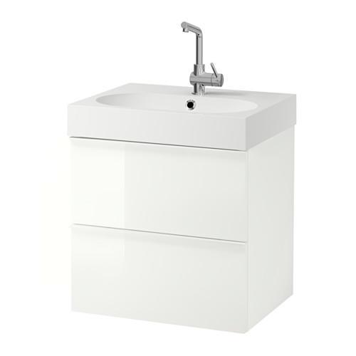 BRÅVIKEN/GODMORGON armario lavabo 2 cajones