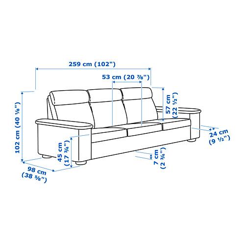 LIDHULT sofá 3 plazas
