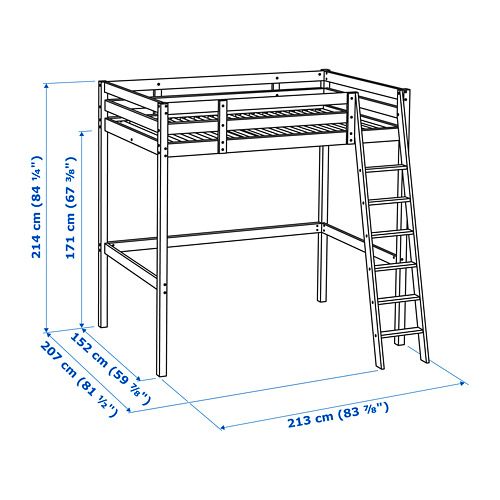 STORÅ estructura cama alta, 140cm