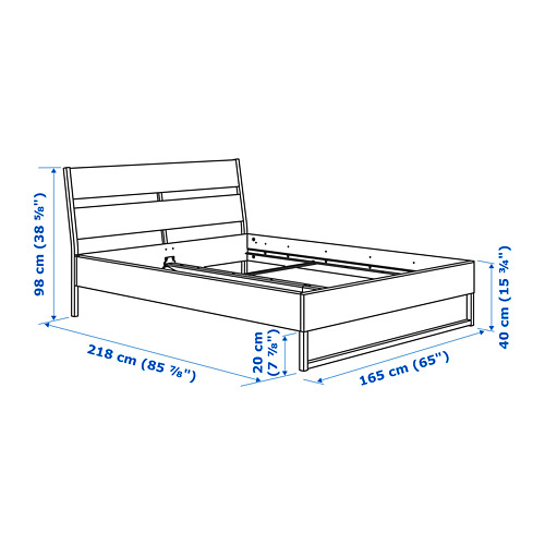 TRYSIL estructura de cama, 160cm
